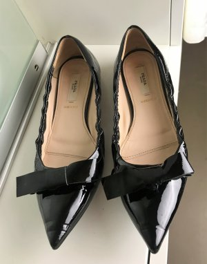 Prada Ballerinas with Toecap black leather