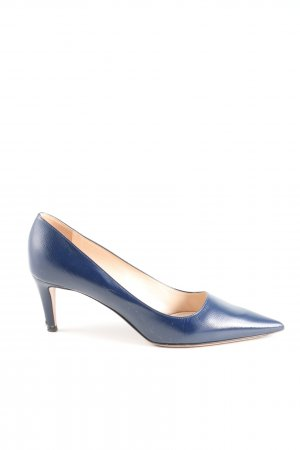 Prada Spitz-Pumps blau Business-Look