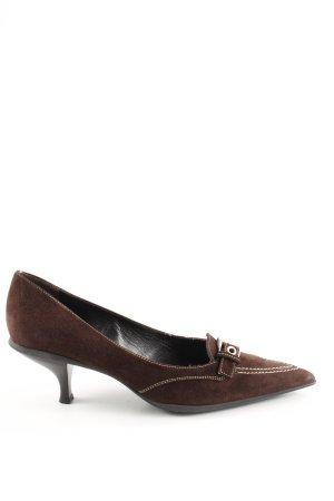 Prada Stiletto brun-argenté style d'affaires