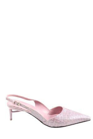Prada Spitz-Pumps pink-hellgrau Animalmuster Casual-Look