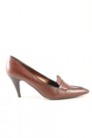 Prada Spitz-Pumps bronzefarben Business-Look