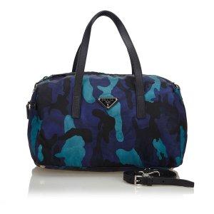Prada Stampato Nylon Shoulder Bag