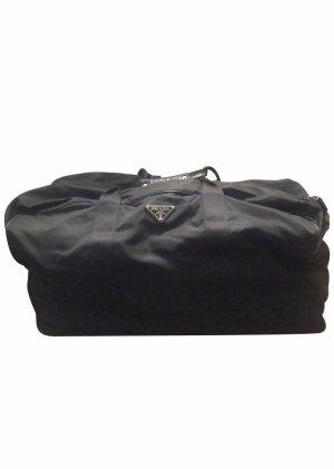 Prada Bolso de viaje negro-color plata