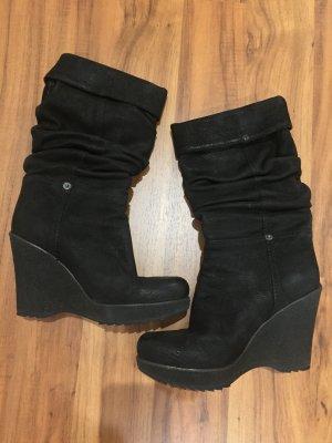 Prada Platform Boots black