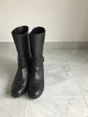 Prada Buskins black leather