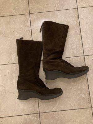 Prada Short Boots dark brown