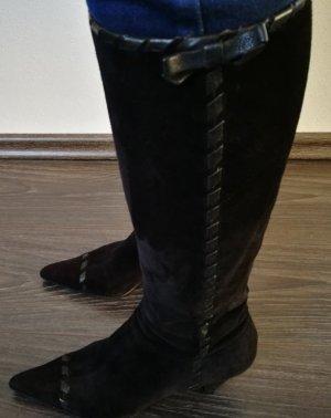 Prada Botas altas negro Gamuza