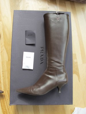 Prada Stiefel Braun 37 Schuhe