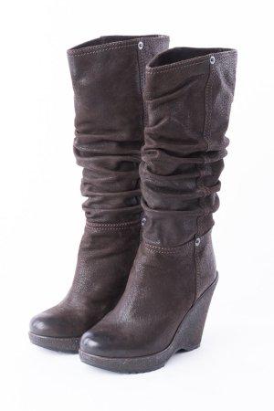 PRADA - Stiefel mit Keilabsatz Braun