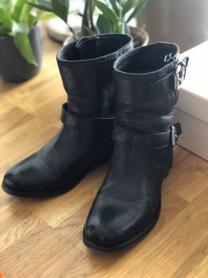Prada Booties black leather