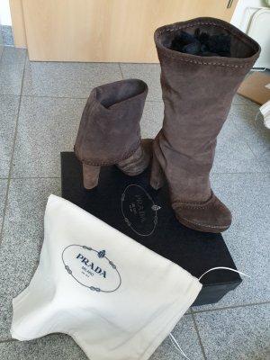 Prada High Heel Boots brown