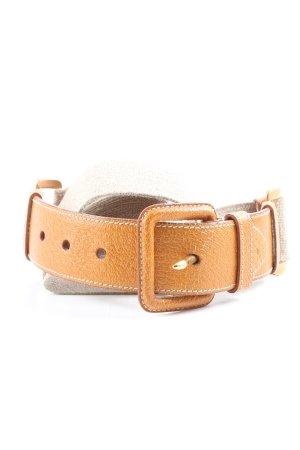 Prada Cinturón de tela blanco puro-marrón look casual