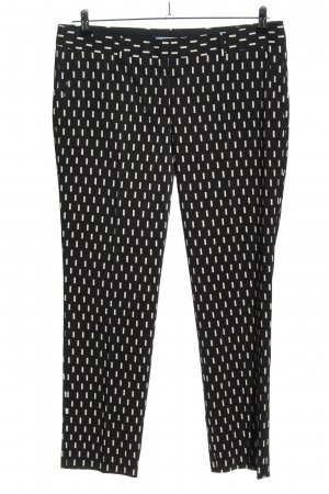 Prada Pantalone jersey nero-bianco stampa integrale stile casual