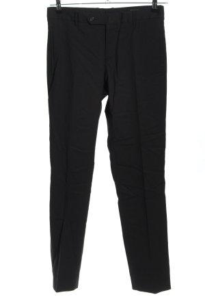 Prada Pantalone jersey nero motivo a righe stile casual