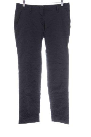Prada Pantalon en jersey noir-argenté style d'affaires