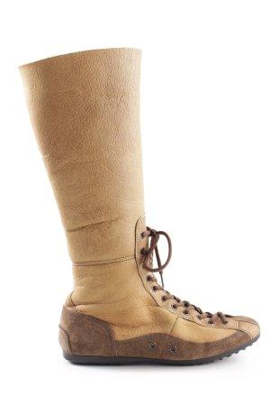 Prada Stretch Boots cream-bronze-colored casual look