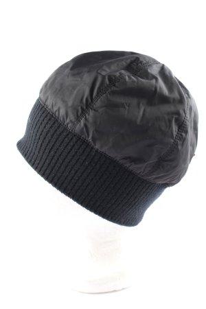 Prada Strickmütze schwarz Casual-Look