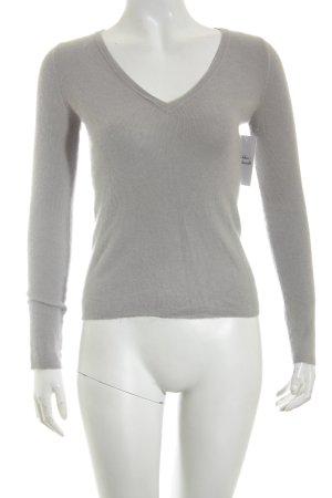 Prada Maglione lavorato a maglia grigio chiaro stile casual