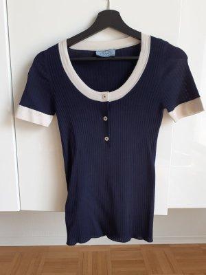 Prada Strickshirt Marinelook