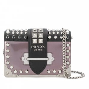 Prada Studded Cahier Crossbody Bag