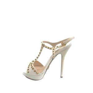 Prada Studded Saffiano Platform Sandal