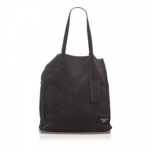 Prada Satchel dark brown suede