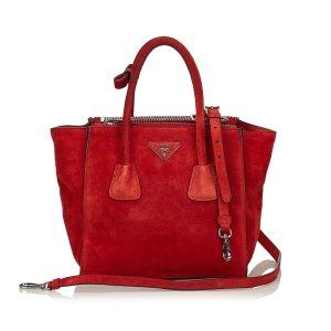 Prada Suede Twin Pocket Bag