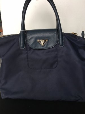 Prada Tasche Blau Leder Nylon