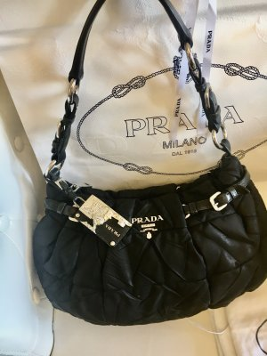 Prada Carry Bag black-silver-colored
