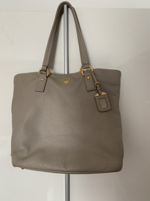 Prada Pouch Bag silver-colored leather