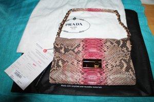 PRADA Tasche Handtasche aus zweifarbigem Python- / Reptilienleder