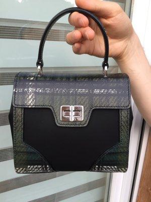 Prada Tasche / Ledertasche / Schwarz Weiß Grün / Saffian Leder / Handtasche / Umhängetasche / NEU