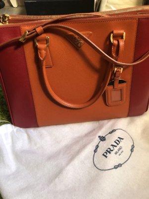 Prada Handtas rood-oranje