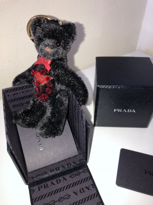 Prada Key Chain black-dark red wool
