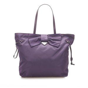 Prada Tessuto Bow Tote Bag