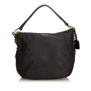 Prada Tessuto Canapa Nylon Hobo Bag