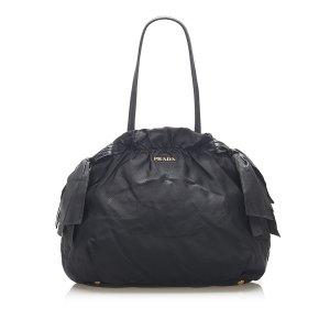 Prada Tessuto Canapa Shoulder Bag