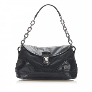 Prada Tessuto Chain Shoulder Bag