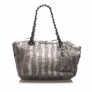 Prada Tessuto Chain Tote Bag