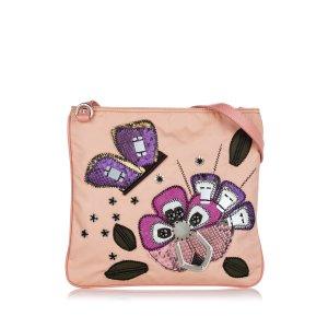 Prada Sac bandoulière rose clair nylon
