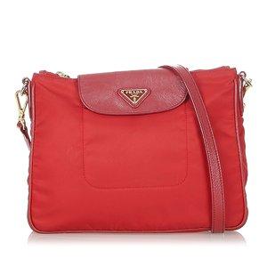 Prada Shoulder Bag red nylon