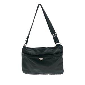 Prada Gekruiste tas zwart Nylon
