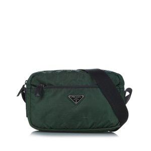 Prada Crossbody bag dark green nylon