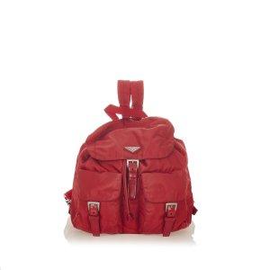 Prada Sac à dos rouge nylon