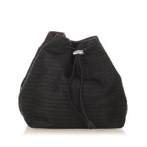 Prada Torebka typu worek czarny Nylon