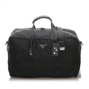 Prada Sac de voyage noir nylon