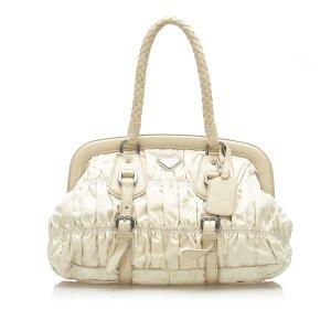 Prada Tessuto Gaufre Frame Shoulder Bag