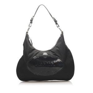 Prada Tessuto Logo Hobo Bag