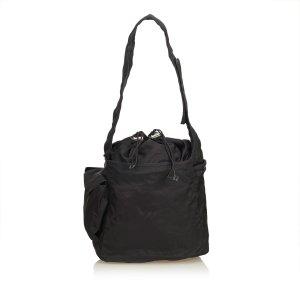 Prada Tessuto Nylon Drawstring Shoulder Bag