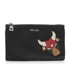 Prada Pouch Bag black nylon